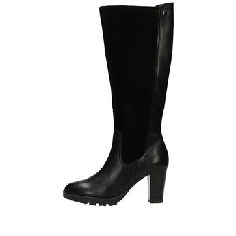 AKCIA. Caprice dámske vysoké kombinované čižmy - čierne 41a5056391b