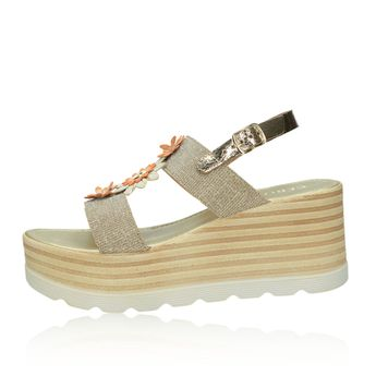 Cerutti dámske elegantné sandále s remienkom - zlaté