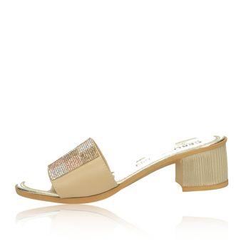 3f3e1e885210 Cerutti dámske elegantné šľapky s ozdobnými kamienkami - béžové