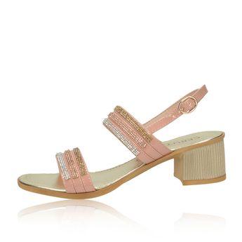 19a4ba84c806 Cerutti dámske štýlové sandále s ozdobnými kamienkami - ružové
