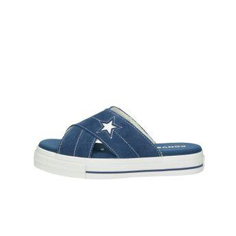 Converse dámske semišové šľapky - modré