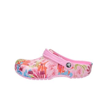 Crocs dámske šľapky s kvetovým motívom - ružové