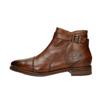 Daniel Hechter pánska zateplená členková obuv na zips - hnedá