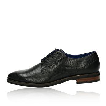 ... Daniel Hechter pánske kožené spoločenské topánky - čierne cc199b74d3