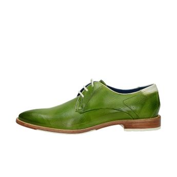 Daniel Hechter pánske kožené štýlové topánky - zelené