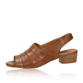 Everybody dámske kožené sandále - hnedé