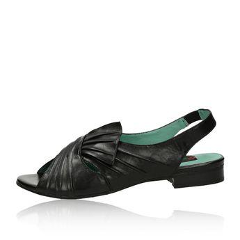 Everybody dámske pohodlné kožené sandále - čierne