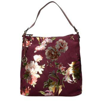 Gabor dámska štýlová kabelka s kvetovým vzorom - bordová