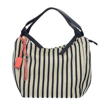 Gabor dámska textilná pásikavá kabelka - modrobiela