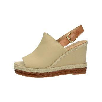 Gant dámske štýlové sandále na klinovej podrážke - béžové