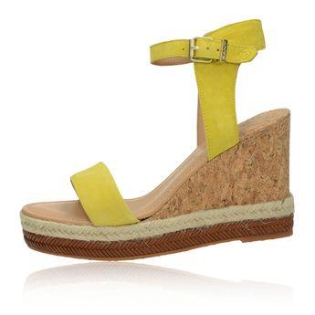 d11468aa809e Gant dámske štýlové sandále na klinovej podrážke - žlté