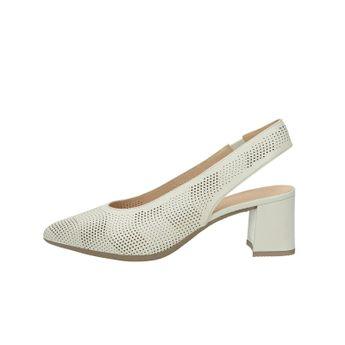 Hispanitas dámske kožené perforované sandále - béžové