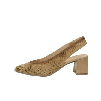 Hispanitas dámske kožené perforované sandále - hnedé