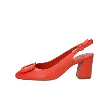 Högl dámske kožené štýlové sandále - červené