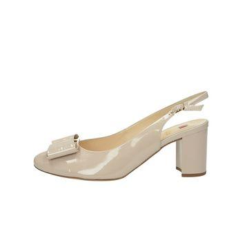 Högl dámske lakované sandále s remienkom - béžové
