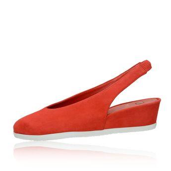 Högl dámske semišové sandále - červené