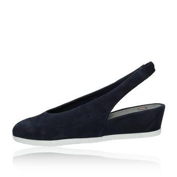 Högl dámske semišové sandále - tmavomodré