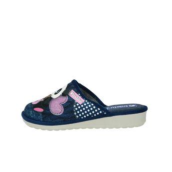 Inblu dámska textilná domáca obuv - modrá