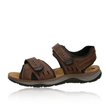 Inblu pánske pohodlné sandále na suchý zips - hnedé