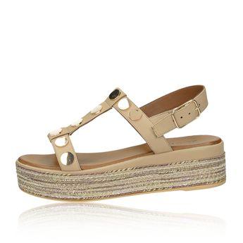 e3c1eb4919 Inuovo dámske štýlové sandále na klinovej podrážke - béžové