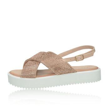 3b6e353459 Inuovo dámske štýlové sandále s ozdobnými kamienkami - ružové