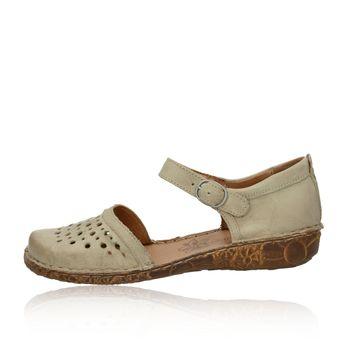1f1724579bcd Josef Seibel dámske kožené perforované sandále s remienkom - béžové