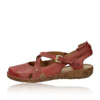 2e0c1b1409a2 Josef Seibel dámske kožené sandále - bordové