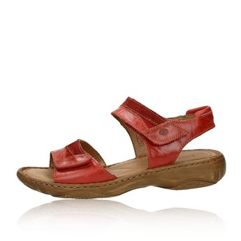 2eda91d1cf95 Josef Seibel dámske kožené sandále - červené