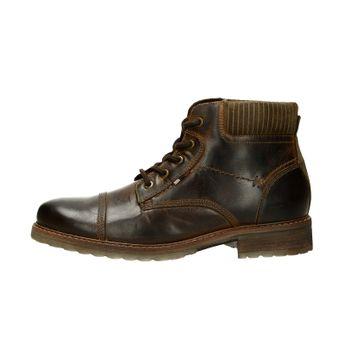 Klondike pánska kožená členková obuv - tmavohnedá 3cf182dd1d4