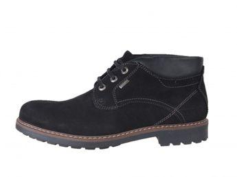 Klondike pánske kožené členkové topánky - čierne