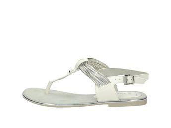 bb2796a18c Marco Tozzi dámske luxusné sandále s remienkom - striebornobiele