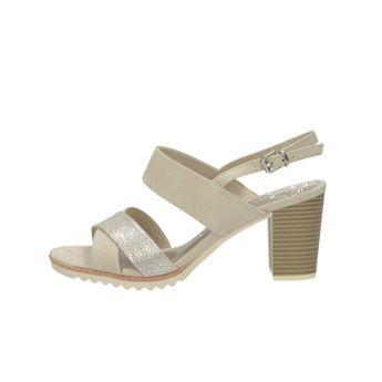 a5adf69fc712 Marco Tozzi dámske sandále na podpätku - béžové