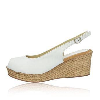 536e01c7212e Marila dámske elegantné sandále na klinovej podrážke - biele