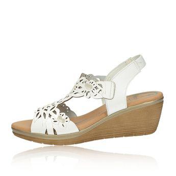Marila dámske kožené sandále - biele a8ea3419893
