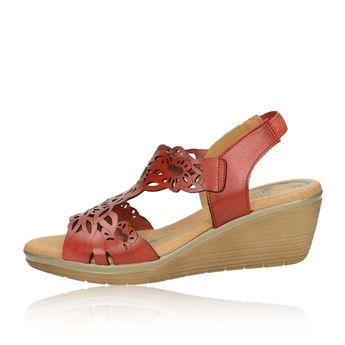 Marila dámske kožené sandále - bordové e32b3508dba