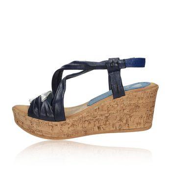 Marila dámske kožené sandále - modré