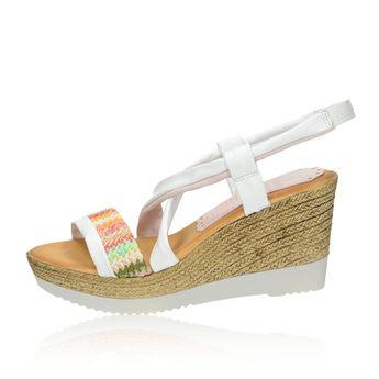 ed72d58ea06f Marila dámske štýlové sandále na klinovej podrážke - biele
