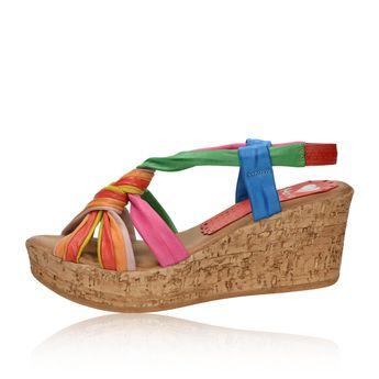 8d67f96d6b Marila dámske štýlové sandále na klinovej podrážke - viacfarebné