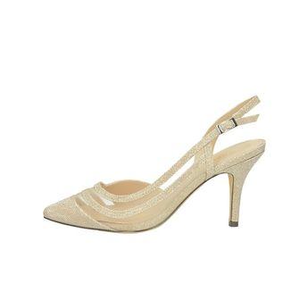 Menbur dámske spoločenské trblietavé sandále - zlaté 06db3dc91d