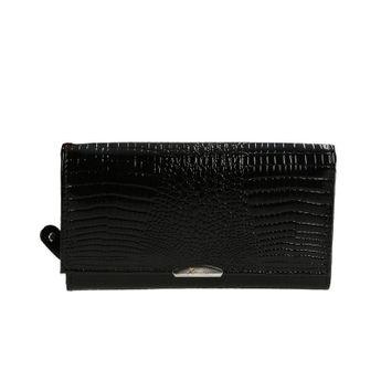 Mercucio dámska kožená peňaženka - čierna