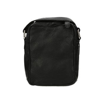 1bfff24a7 Mercucio pánska kožená crossbody taška - čierna