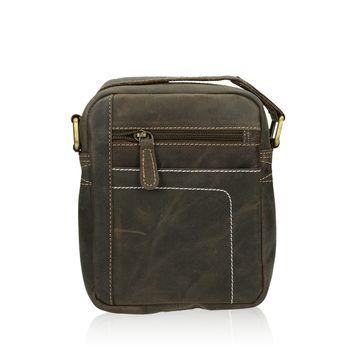 405962218 ... Mercucio pánska kožená crossbody taška - hnedá