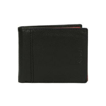 Pánska kožená peňaženka - čiernočervená