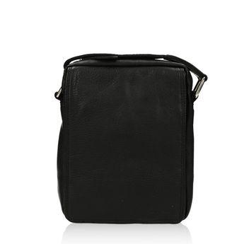 5b665e8393 Mercucio pánska kožená taška - čierna
