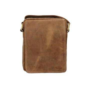 Mercucio pánska kožená taška - koňaková