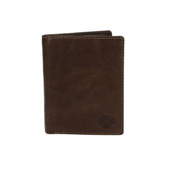 Metropoli pánska kožená peňaženka - tmavohnedá