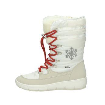 M&G dámske zateplené nízke čižmy - biele
