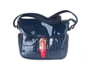 Monnari dámska lakovaná kabelka - modrá
