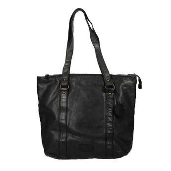 Noelia Bolger dámska kožená kabelka - čierna