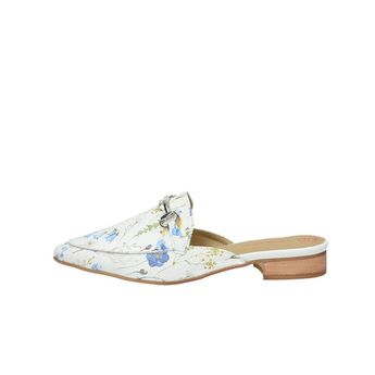 Olivia shoes dámske elegantné šľapky - biele